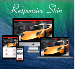 DNNSmart ZF0051-Red Responsive Theme - Skin, Responsive Layout, Mobile, Tablet, Business, Cars, Car