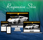 DNNSmart ZF0051-Yellow Responsive Theme - Skin, Responsive Layout, Mobile, Tablet, Cars, Car