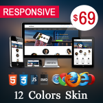 Artificial Theme / 12 Colors  / Ultra Responsive / Bootstrap 3 / Parallax / DNN 6.x & 7.x