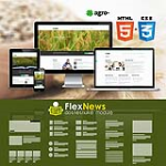 HTML5 CSS3 // Web3.0 Agro- // Multiple Color // Flat // Retina // Responsive Mobile // News Module