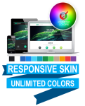 Unlimited Colors DNNSmart WJ0049 Responsive Skin 1.1.0 - Responsive Layout, Mobile, Tablet, Business