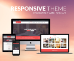 Responsive DNN Theme BD001 Red / Furniture / Hotel / MegaMenu / LeftMenu / Bootstrap3 / Slider
