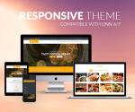 Responsive DNN Theme BD001 Yellow / Food / Restaurant / MegaMenu / LeftMenu / Bootstrap3 / Slider