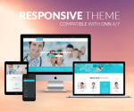 Responsive DNN Theme BD001 Light Blue / Medical / Hospital / Mega Menu / LeftMenu / Bootstrap3