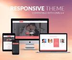 Responsive DNN Theme BD001 Pink / Wedding / Marriage / Mega Menu / LeftMenu / Bootstrap3 / Slider