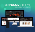 Responsive DNN Theme BD002 Dark Orange / Car / Automotive / Mega Menu / Left Menu / Parallax