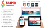 The Shaper DNN Theme Responsive with lots of Short-codes, Slider, Wide & Boxed with Backgrounds V7