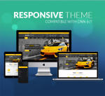 Responsive DNN Theme BD002 Yellow / Car / Automotive / Mega Menu / Left Menu / Parallax