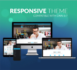 Responsive DNN Theme BD002 Sky Blue / Business / Slider / Mega Menu / LeftMenu / Parallax