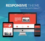 Responsive DNN Theme BD003 Red / Business / Mega Menu / Side Menu / Bootstrap3 / Slider