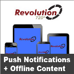 Revolution720 // Blue // Push Notifications // Offline Content // App-Store Apps