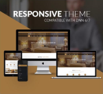 Responsive DNN Theme BD002 Brown / Hotel / Booking / Business / Mega Menu / LeftMenu / Parallax