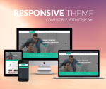 Responsive DNN Theme BD001 Turquoise / Business / Slider / Mega Menu / Side Menu / Bootstrap