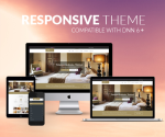 Responsive DNN Theme BD001 Khaki / Hotel / Booking / Business / Mega Menu / Side Menu / Sliders
