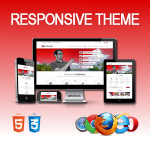 Revolution Red Theme / Ultra Responsive / HTML5 / CSS3 / Bootstrap 3 / Parallax / DNN 6.x & 7.x