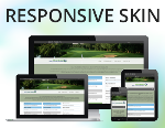 Golf Course Skin Pack / 4 Responsive Skins with 25 Containers / HTML5 / CSS3 / Bootstrap 3