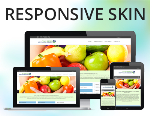 Food Stand Skin Pack / 4 Responsive Skins with 25 Containers / HTML5 / CSS3 / Bootstrap 3