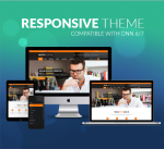 Responsive DNN Theme BD002 Orange / Business / Slider / Mega Menu / LeftMenu / Parallax