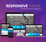 Responsive DNN Theme BD007 Blue / Business / Slider / Mega Menu / Side Menu / Bootstrap / Parallax