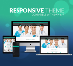 Responsive DNN Theme BD002 SeaGreen / Medical / Healthy / Hospital / Mega Menu / LeftMenu / Carousel
