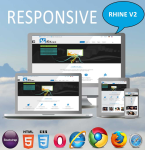 Rhine ( V2.4) / MegaMenu / HTML5 /  CSS3 / Ultra Responsive / 9 Headers / 32 Colored / Clean