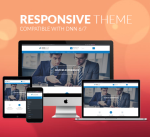Responsive DNN Theme BD008 Blue / Business / Slider / Mega Menu / Bootstrap / Parallax / Side Menu