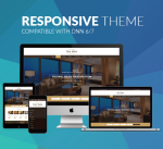 Responsive DNN Theme BD009 Brown / Hotel / Booking / Holiday / Mega Menu / LeftMenu / Parallax