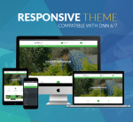 Responsive DNN Theme BD008 Green Garden / Business / Slider / Mega Menu / Side Menu / Parallax