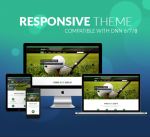 Responsive Theme BD002 Forest Green / Golf / Hotel / Leisure / Resort / Slider / MegaMenu / Parallax