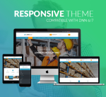 Responsive Theme BD008 Teal Blue / Transport / Business / SideMenu / MegaMenu / Slider / Bootstrap