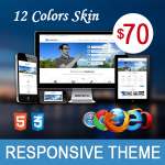 Revolution Theme // 12 Colors // Ultra Responsive // Bootstrap 3 // Left side Menu // Parallax