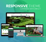 Responsive DNN Theme BD004 Green Garden / Business / Slider / Mega Menu / Side Menu / Parallax