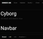 Dark Bootstrap Theme // Bootstrap // Font Awesome // HTML5 // CSS3 // Ultra Responsive // 1 Color