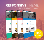 Responsive Theme BD001 Pack / 10 Colors / Business / Mega Menu /Side Menu / Bootstrap / Slider