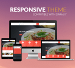 Restaurant Theme BD007 Red / Food / Business/ Cuisine / Mega Menu / Left Menu / Bootstrap / Parallax