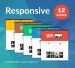 Responsive Theme BD003 Pack / 12 Colors / Business / Mega Menu / Side Menu / Parallax / Bootstrap