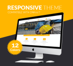 Responsive Theme BD004 12 Colors Pack / Business / MegaMenu / SideMenu / Bootstrap / slider / Mobile