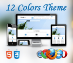 Simple 12 Colors Theme // HTML5 // CSS3 // Ultra Responsive // Bootstrap 3 // Parallax / Retina