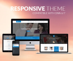 Responsive Theme BD001 Blue / Business / Slider / Mega Menu / Side Menu / Mobile