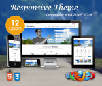 Revolution / 12 Colors Theme / Ultra Responsive / Left side Menu / Bootstrap 3 / Parallax
