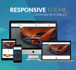 Responsive Theme BD008 Navy / Yellow / Car / Automotive / Mega Menu / Mobile / Bootstrap / Slider