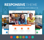 Justdnn BD004 Theme Single Color / Business / MegaMenu / SideMenu / Bootstrap / Slider / Mobile