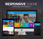 Justdnn Vision Theme 15 Colors Pack / Responsive / Business / Mega / Mobile / Parallax / Bootstrap3