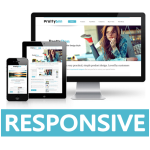 Dream Series- Blue Responsive Skin / Company / Medical / Bootstrap / Mobile / Book Store / Financial