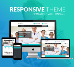 Medical Theme BD004 Cyan / Responsive / Healthy / Hospital / MegaMenu / SideMenu / Carousel / Mobile