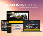Car Theme BD001 Black / Yellow / Responsive / Automotive / Mega Menu / LeftMenu / Bootstrap / slider