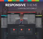 Nexus 15 Colors Pack / Black / Dark / Responsive / Business / LeftMenu/ Parallax / Site Template