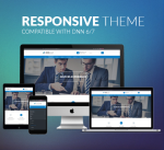 Responsive Theme BD008 Blue / Business / Slider / Mega Menu / Page Template / Parallax / Mobile