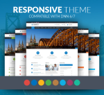 Responsive Theme Smarty 12 Colors Pack / Business / Mega Menu / Mobile / Parallax / DNN6/7/8