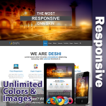 Deshi Responsive Theme (3.10) / Unlimited Colors/ 700+ Google Fonts / Mega Menu / DNN 6, 7 & 8